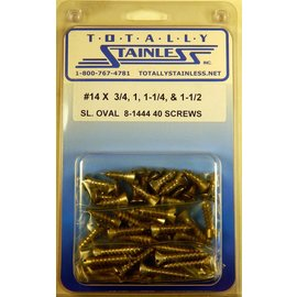 Totally Stainless #14 Stainless Slotted Oval Head Sheet Metal Screws