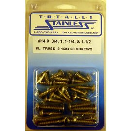 Totally Stainless #14 Stainless Slotted Truss Head Sheet Metal Screws