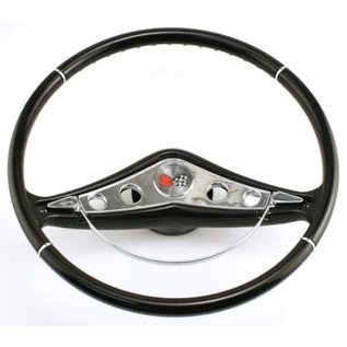 58-60 Impala Steering Wheel - Black - 15""