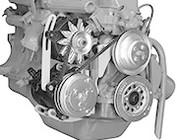 Ford Inline 6 Cylinder V-Belt Alternator & A/C Compressor Brackets