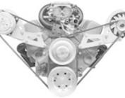Chevy Small Block V-Belt Engine Brackets