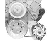 Chevy Small Block Short Water Pump V-Belt Engine Brackets