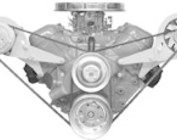Chevy Big Block V-Belt Engine Accessory Brackets