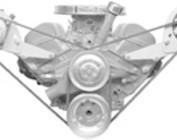 Chevy 348/409 V-Belt Engine Brackets