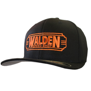 Walden Speed Shop Walden Logo Black & Orange FlexFit Hat