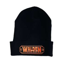 Walden Speed Shop Walden Orange Logo Beanie