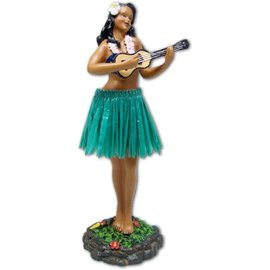 Affordable Street Rods Hula Girl - Ukulele - Green Skirt