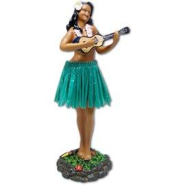 Affordable Street Rods Hula Girl - Ukulele - Green Skirt