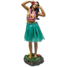 Affordable Street Rods Hula Girl - Singing - Green Skirt