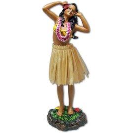 Affordable Street Rods Hula Girl - Singing - Natural Skirt