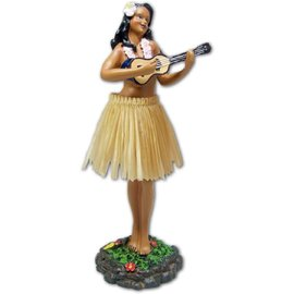 Affordable Street Rods Hula Girl - Ukulele - Natural Skirt