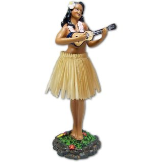 Hula Girl - Ukulele - Natural Skirt