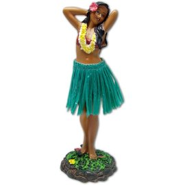 Hula Girl - Posing - Green Skirt
