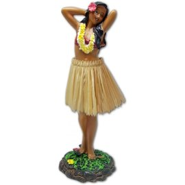 Affordable Street Rods Hula Girl - Posing - Natural Skirt