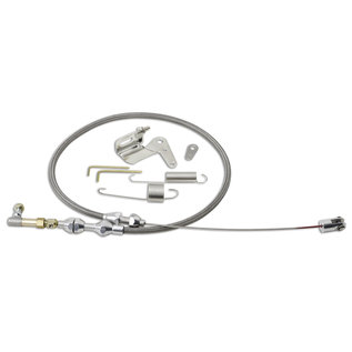 "Lokar Duo-Pak: 24"" SS Throttle Cable with SS Cable Bracket & Springs - DP-1000HT"