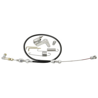 """Lokar Duo-Pak: 24"""" Black Throttle Cable with SS Cable Bracket & Springs - DP-1000U"""