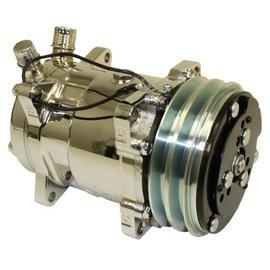 Vintage Air 508 V-Belt Compressor-Chrome Finish - 048085