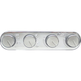 Vintage Air Gen II Streamline 4-Knob Control Panel - Polished Finish - 491200-RUA