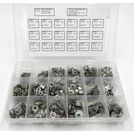 Totally Stainless Stainless Flat Washer, Split Lock & Hex Nut - Personal Assortment