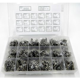 Totally Stainless Stainless Phillips Oval Head Sheet Metal Screw - Personal Assortment