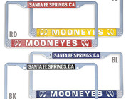 License Plates, License Frames, Tag Toppers & License Bolts
