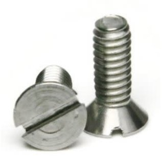 "Totally Stainless 10-24 x 1/2, 3/4 & 1-1/4"" Stainless Slotted Flat Head Machine Screws"