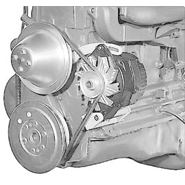 Alan Grove Components Alternator Bracket - 1956-62 Chevy 235 6 Cylinder - 224L