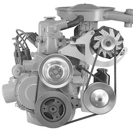 Alan Grove Components Alt & PS Bracket 1963-74 230/250 Chevy Six Cylinder - 602L