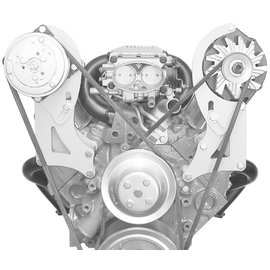 Alan Grove Components Alternator Bracket - Small Block Chevy VORTEC - Long Water Pump - Driver Side - 230L-Tall