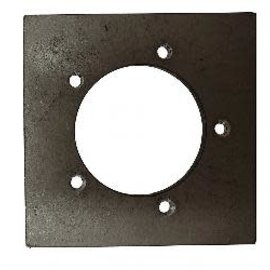 Tanks Inc. 5 Hole Weld On Sender Mounting Plate Mild Steel - SP-MS