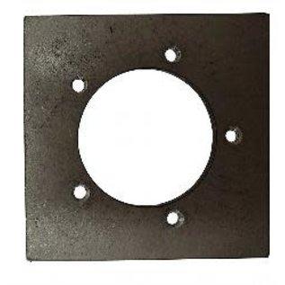 Tanks Inc. 5 Hole Weld On Sender Mounting Plate Mild Steel - SP-MS
