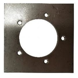 Tanks Inc. 5 Hole  Weld On Sender Mounting Plate Stainless Steel - SP-SS
