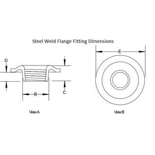 "Tanks Inc. 1/4"" NPT Weld-In Flange Fitting - Mild Steel - 14NPT-FF"