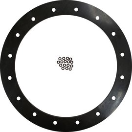 "Tanks Inc. 6"" Diameter Viton Gasket, 16 Hole with Viton O-Rings - 6G-V-OR"