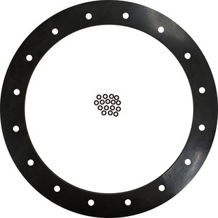 "Tanks Inc. 6"" Diameter Viton Gasket, 16 Hole with Viton O-Rings - 6G-V-OR"