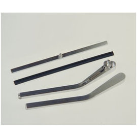 Specialty Power Windows - Wiper Arm - 1 Bent Left Alum. With Blade - WAB-01BL