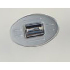 Specialty Power Windows - Single Switch - Custom Alum. Bezel - Oval Ball Mill - AB-01 O BM