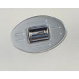 Specialty Power Windows Specialty Power Windows - Single Switch - Custom Alum. Bezel - Oval Ball Mill - AB-01 O BM