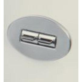 Specialty Power Windows - Double Switch - Custom Alum. Bezel - Oval Smooth - AB-02 O