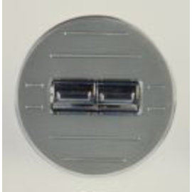 Specialty Power Windows - Double Switch - Custom Alum. Bezel - Round Ball Mill - AB-02 R BM
