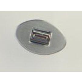 Specialty Power Windows - Single Switch - Custom Alum. Bezel - Oval Smooth - AB-01 O