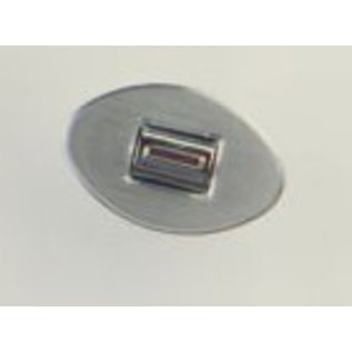 Specialty Power Windows - Single Switch - Custom Alum. Bezel - Oval Smooth - AB-01 O