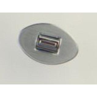 Specialty Power Windows Specialty Power Windows - Single Switch - Custom Alum. Bezel - Oval Smooth - AB-01 O