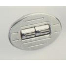 Specialty Power Windows - Double Switch - Custom Alum. Bezel - Oval Ball Mill - AB-02 O BM