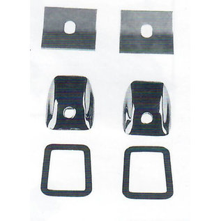 Specialty Power Windows - Wiper Kit - 41-48 Chevy Cars - 2 Unfinished Wiper Tower Bezels - 4148-U