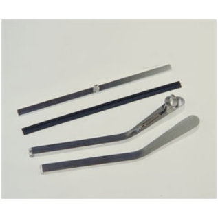 Specialty Power Wipers Specialty Power Wipers- Wiper Arm - 1 Bent Right Alum. With Blade - WAB-01BR