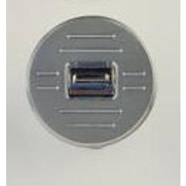 Specialty Power Windows - Single Switch - Custom Alum. Bezel - Round Ball Mill - AB-01 R BM