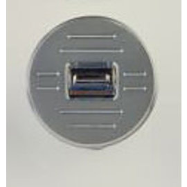 Specialty Power Windows Specialty Power Windows - Single Switch - Custom Alum. Bezel - Round Ball Mill - AB-01 R BM