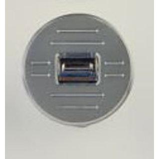 Specialty Power Windows Specialty Power Windows - Single Switch - Custom Alum. Bezel - Round Ball Mill - AB-01 R BM