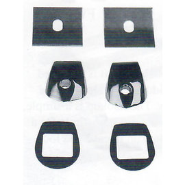 Specialty Power Wipers Specialty Power Wipers - Wiper Kit - 37-39 Chevy Car - 2 Unfinished Wiper Tower Bezels  - 3739-U
